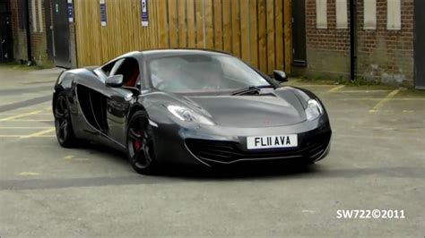 Grey Mclaren Mp4 12c Start Up & Driving W Sports Exhaust