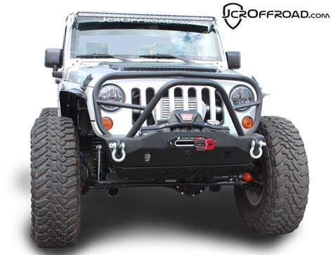jeep bumper grill jcr offroad mauler deluxe stubby front bumper w grill