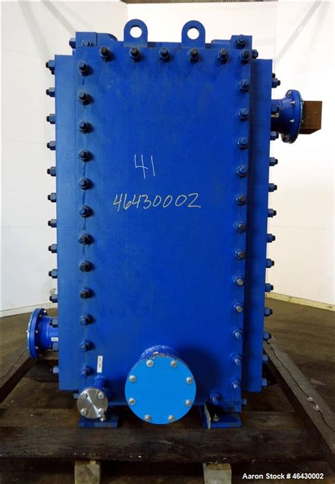 4 foot lava l unused alfa laval compabloc welded plate heat ex