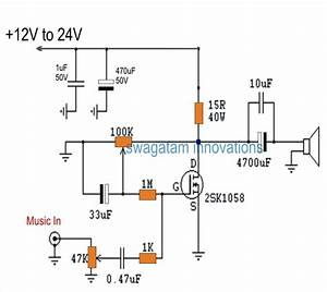 Single Mosfet Class A Power Amplifier Circuit