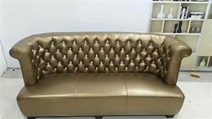 Couch Sofort Lieferbar : chesterfield sofa couch polster 3 sitzer 100 echtes leder sofort lieferbar neu gold www ~ Markanthonyermac.com Haus und Dekorationen