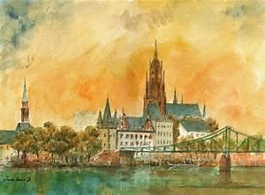 Who S Perfect Frankfurt : frankfurt watercolor painting by juan bosco ~ Watch28wear.com Haus und Dekorationen