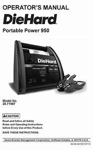 Diehard Portable Power 950 Operator U0026 39 S Manual Pdf Download
