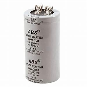 Cylinder 300uf 300mfd 250v Ac Motor Start Up Capacitor Dt