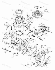 Polaris Atv 1995 Oem Parts Diagram For Crankcase