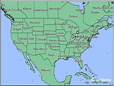 1: Map showing the location of Detroit in Michigan, USA ...