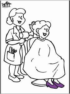 Beim Friseur Ausmalbilder Briges