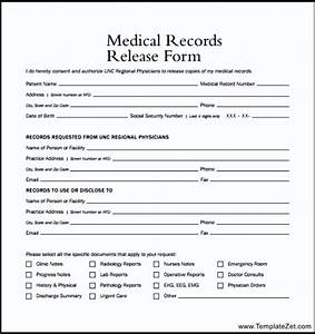medical records release form example templatezet With template to request medical records
