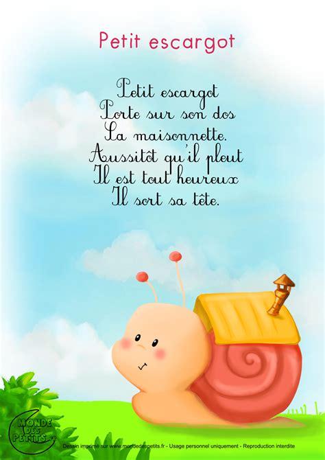 monde des petits petit escargot