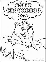 Groundhog Coloring Pages Printable Holiday sketch template