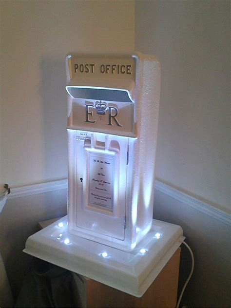 wedding post box royal mail with led base great for