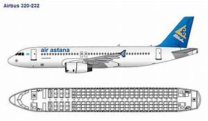 Air Astana Airlines Airbus A320 Aircraft Seating Chart