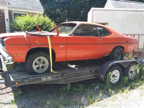 plymouth duster   speed parts car  project