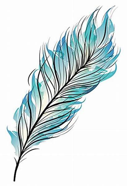 Feather Watercolor Tattoo Painting Bohemian Easy Tutorial