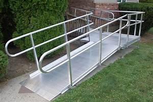National ramp suburban home ramp installation for Aluminum wheel chair ramps