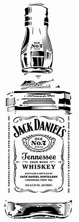 Jack Daniels Stencils Bottle Whiskey Silhouette Stencil Tattoo Pyrography Daniel Clip Cricut Glass Drawings Vinyl Garrafa Cameo Label Clipart Templates sketch template