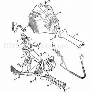 Stihl Fs 70 Brushcutter  Fs70c  Parts Diagram  Engine