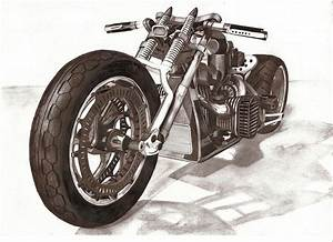 motorcycle pencil by w0jtek1990 on DeviantArt