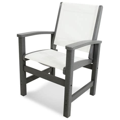 polywood island pacific blue patio dining chair