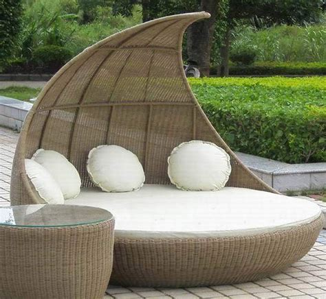 canap design confortable patio daybed with canopy set chairs seating