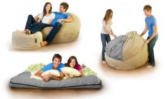 cordaroy s chenille beanbag chair bed full sleeper groupon