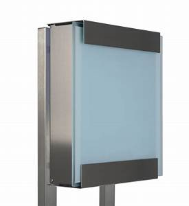Briefkasten Edelstahl Design : design briefkasten edelstahl milchglas im greenbop online shop kaufen ~ Markanthonyermac.com Haus und Dekorationen