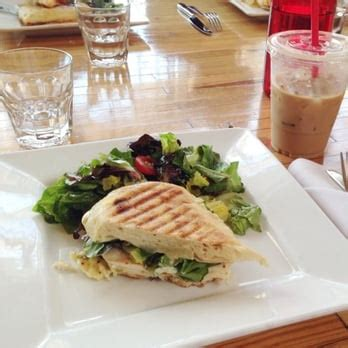Share all sharing options for: Ascension Coffee - Dallas, TX, United States. Teeni panini- Chicken manchego with house salad ...