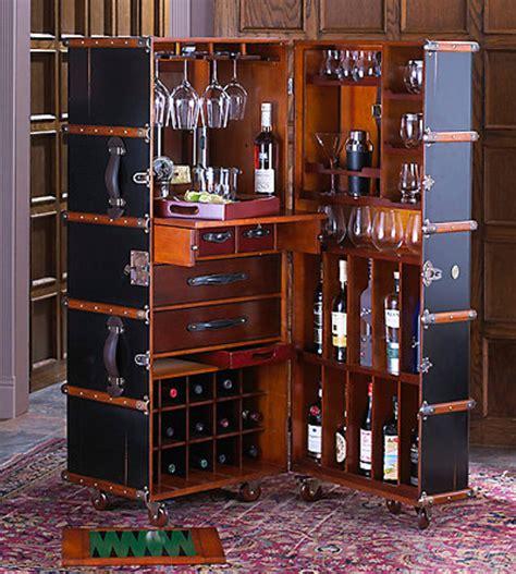 stateroom bar  ivory  black steamer trunk bar