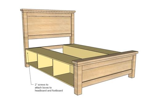 king size bed frame  drawers plans woodworking projects plans