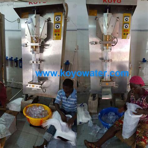 koyo liquid packaging machine  liberia koyo water sachet produce linekoyo sachet filling