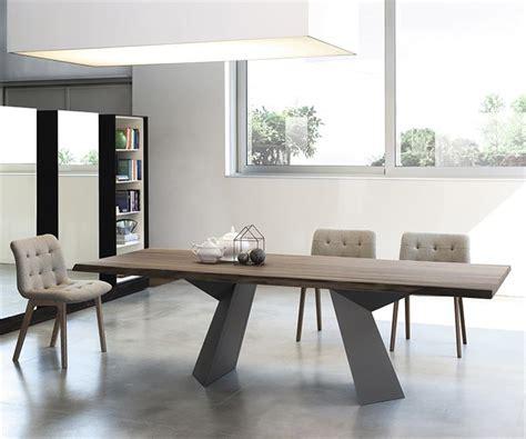 table noyer design pied metal bontempi casa sur cdc design