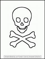 Skull Crossbones Pirate Printable Stencils Coloring Pumpkin Template Halloween Pages Hat Carving Templates Stencil Bones Drawing Skulls Flag Hats Crafts sketch template