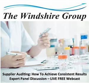 pharmaceutical vendor auditing Archives - The Windshire Group
