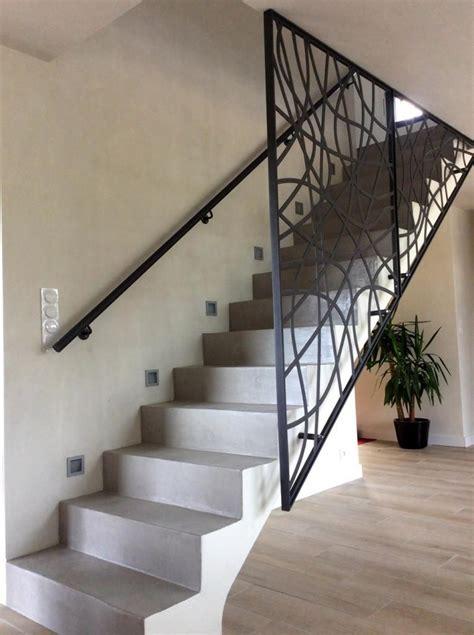 garde corps metallique art metal concept escalier