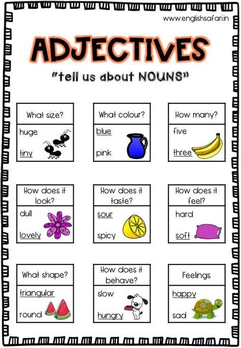 adjectives anchor chart describing words