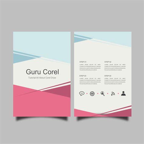 membuat brosur sederhana  coreldraw