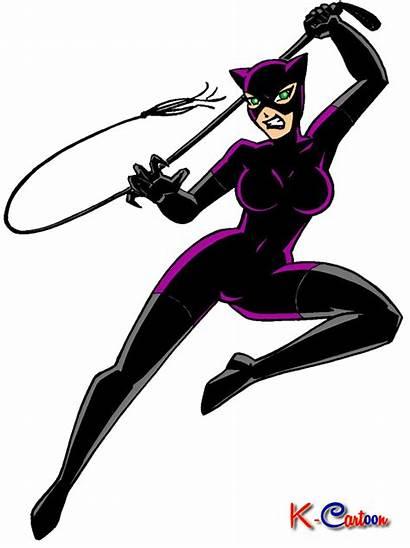 Cat Woman Kartun Gambar Catwoman Cartoon Vektor