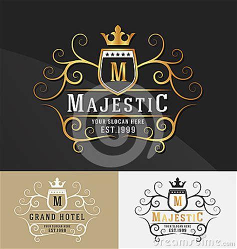 premium royal crest logo design stock photo image