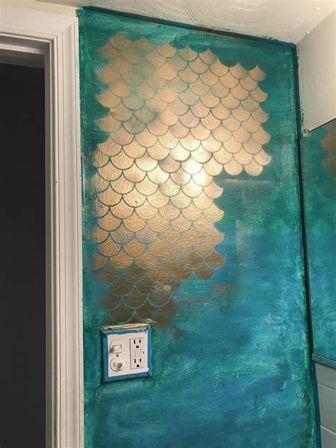 mermaid bathroom    diy   mermaid