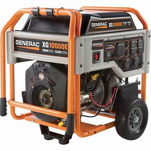 Generac Xg10000e Portable Generator  U2014 12 500 Surge Watts