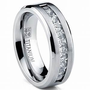titanium mens wedding band engagement ring with 9 large With large mens wedding rings