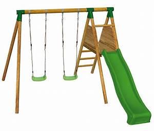Balancoire Et Toboggan : balancoire en bois avec toboggan ~ Melissatoandfro.com Idées de Décoration