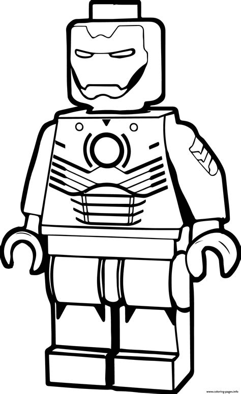 lego iron man cartoon coloring pages printable
