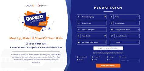 Map Yang Digunakan Melamar Pekerjaan by Qareer Carnival 2018 Bursa Lowongan Kerja Dengan Sistem