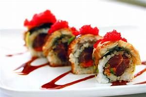 Spicy Tuna Scallop Sushi Roll Recipe — Dishmaps