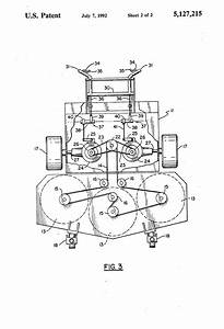 Patent Us5127215 - Dual Hydrostatic Drive Walk-behind Mower