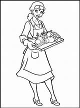 Tiana Coloring Princess Pages Waitress Waiter Printable Disney Sheet Drawing Profession Cool2bkids Colouring Doll Sheets Frog Coloringpagesfortoddlers Kid Fun Children sketch template