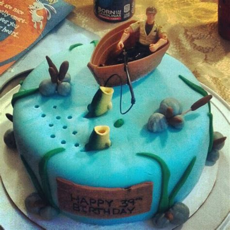 Man In Fishing Boat Cake Topper by Fisherman S Cake Food Pinterest Boats Cakes And