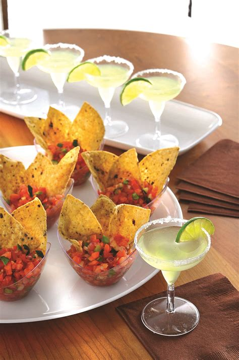 mini plastic canape dishes are an inexpensive way of