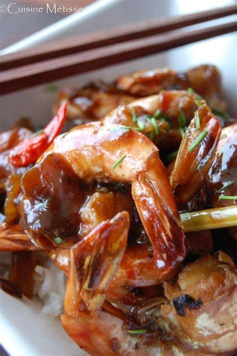 cuisiner les crevettes crevettes laquées au miel cuisine metisse